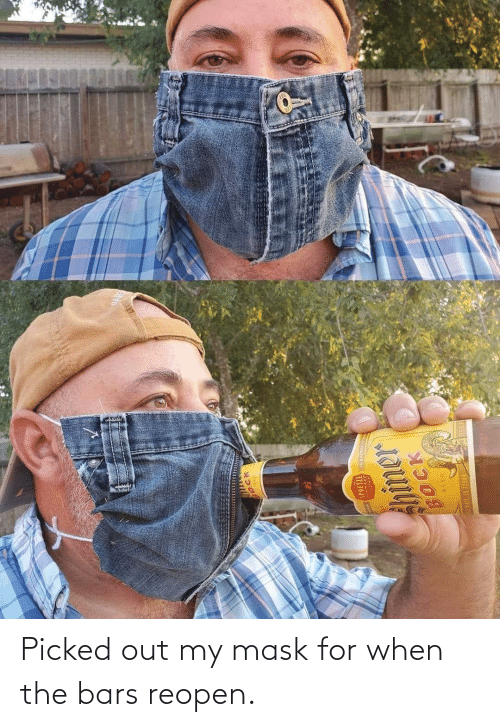Bars: Picked out my mask for when the bars reopen.