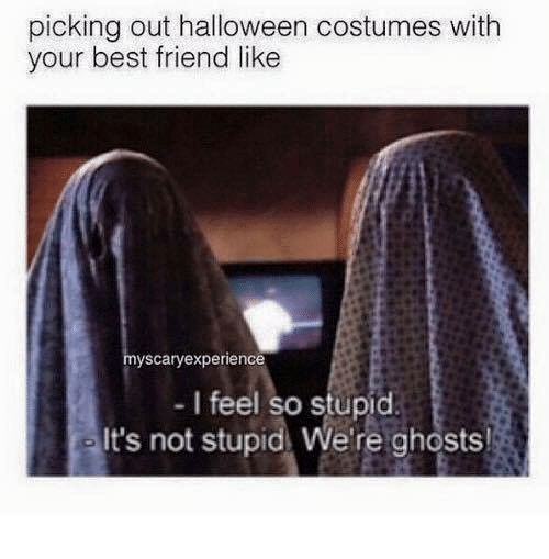 Picking Out Halloween Costumes With Your Best Friend Like ...