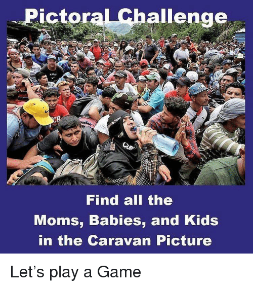 caravan: Pictoral Challenge  Find all the  Moms, Babies, and Kids  in the Caravan Picture Let's play a Game