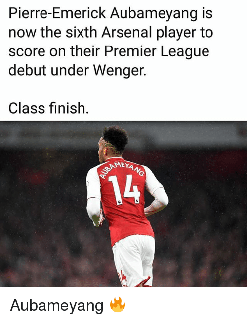 Pierre-Emerick Aubameyang Is Now the Sixth Arsenal Player ...