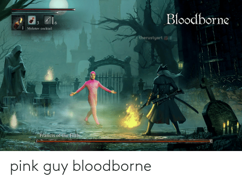Pink: pink guy bloodborne