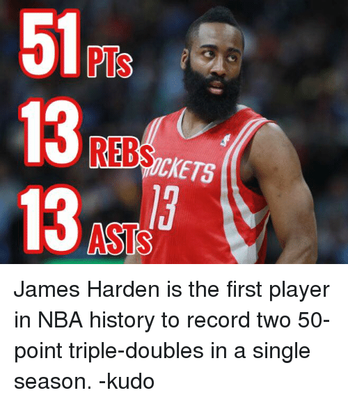 James Harden Nba Records: Funny Triple Double Memes Of 2017 On SIZZLE