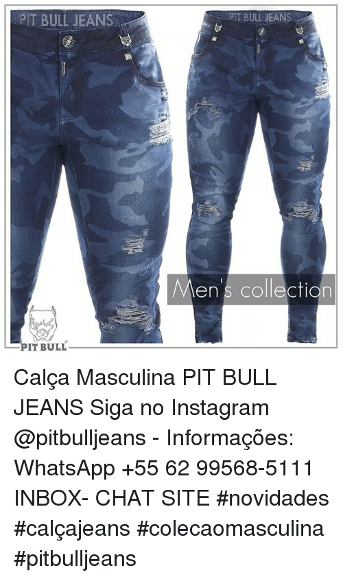 Siga: PIT BULL JEANS  PIT BULL JEANS  Men's collection  en s collecfion  IT BULL Calça Masculina PIT BULL JEANS Siga no Instagram @pitbulljeans - Informações: WhatsApp +55 62 99568-5111 INBOX- CHAT SITE  #novidades #calçajeans #colecaomasculina  #pitbulljeans