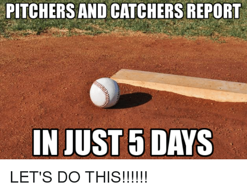 when do pitchers and catchers report 2018