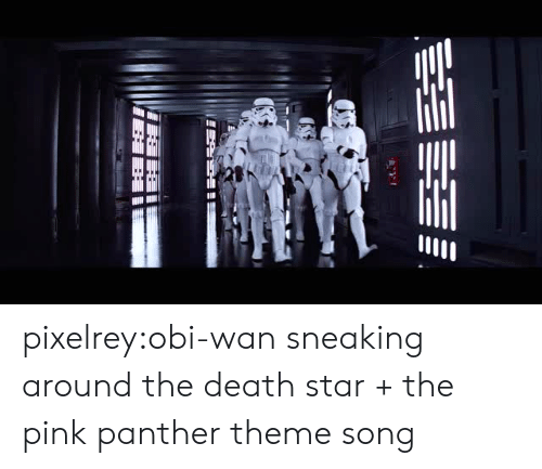 Death Star: pixelrey:obi-wan sneaking around the death star + the pink panther theme song