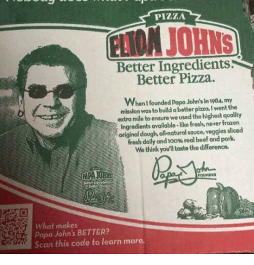 Pizza Better Ingredients Better Pizza When Founded Papa John 39 S In 198my Mission Wos To Build A