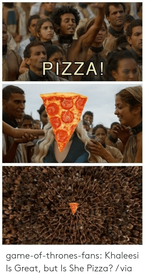 cheezburger: PIZZA! game-of-thrones-fans:  Khaleesi Is Great, but Is She Pizza? / via
