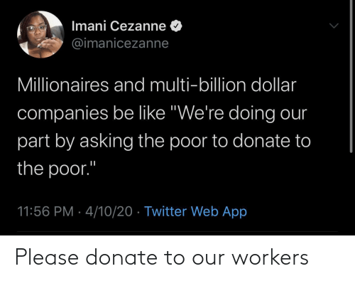 donate: Please donate to our workers