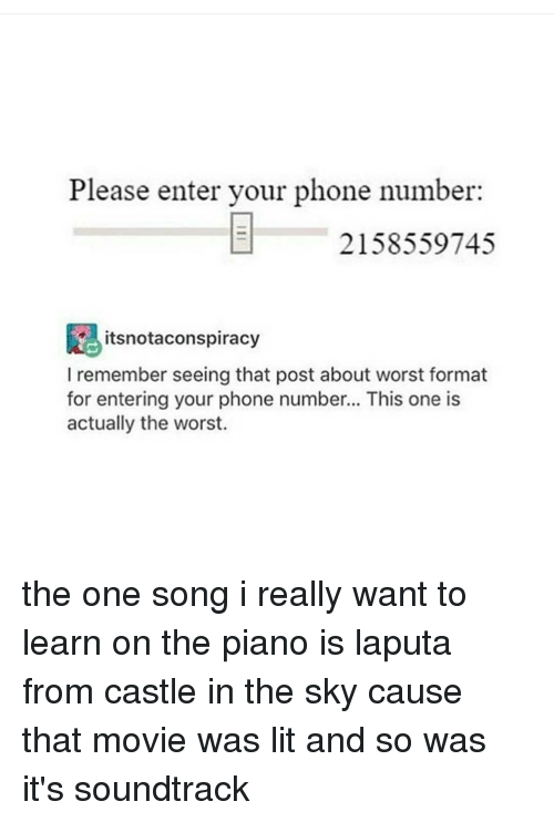 Please Enter Your Phone Number 2158559745 Itsnotaconspiracy I Remember Seeing That Post About