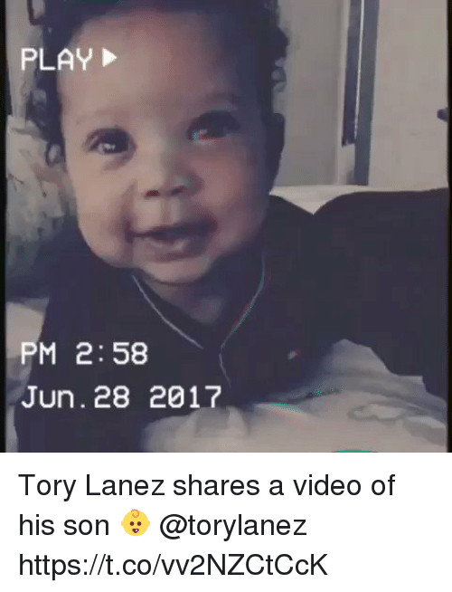 Tory Lanez: PM 2:58  Jun. 28 2017 Tory Lanez shares a video of his son 👶 @torylanez https://t.co/vv2NZCtCcK