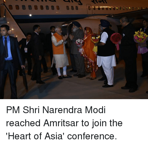 Memes, Narendra Modi, and 🤖: PM Shri Narendra Modi reached Amritsar to join the 'Heart of Asia' conference.