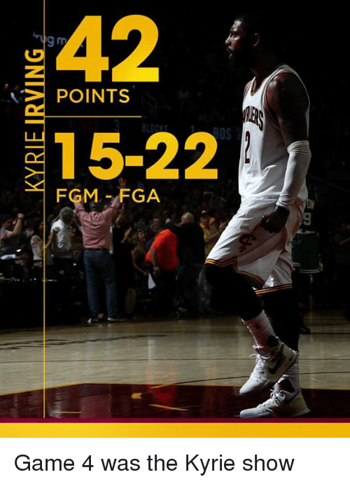 Memes, Game, and 🤖: POINTS  15-22  FGM FGA Game 4 was the Kyrie show