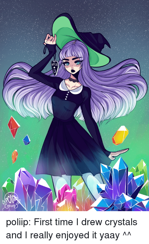 Enjoyed It: poliip: First time I drew crystals and I really enjoyed it yaay ^^