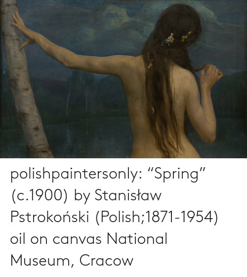 "National: polishpaintersonly: ""Spring"" (c.1900) by  Stanisław Pstrokoński (Polish;1871-1954) oil on canvas National Museum, Cracow"