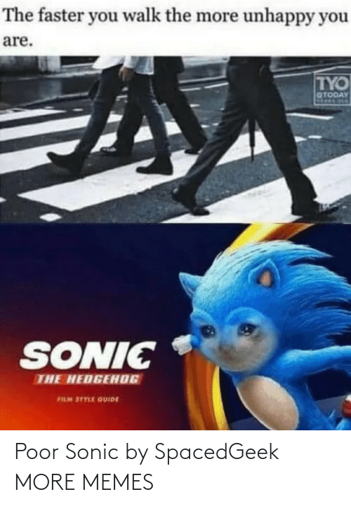 Sonic: Poor Sonic by SpacedGeek MORE MEMES