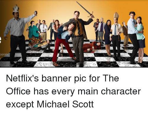 Charming Netflix, The Office, And Maine: Porate Netflixu0027s Banner Pic For The Office  Has