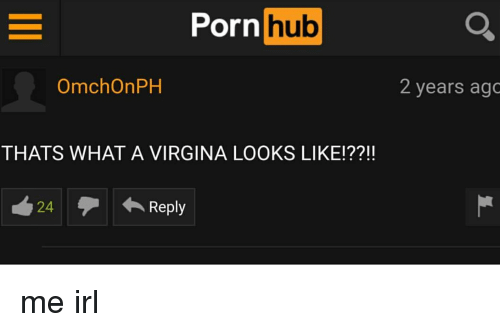 Porn Hub, Porn, and Irl: Porn hub  hub  OmchOnPH  2 years ago  THATS WHAT A VIRGINA LOOKS LIKE!??!!  24  ← Reply