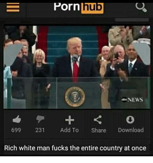 News, Porn Hub, and Porn: Porn Porn  hub  NEWS  699  231  Add To  Share  Download  Rich white man fucks the entire country at once