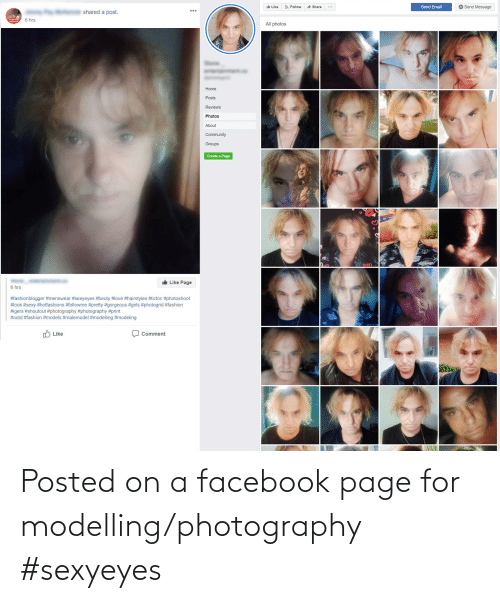 modelling: Posted on a facebook page for modelling/photography #sexyeyes