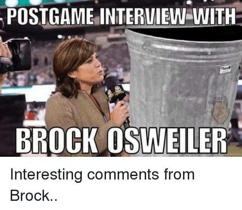 Osweiler: POSTGAME INTERVIEW WITH  BROCK OSWEILER Interesting comments from Brock..