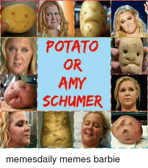 Amy Schumer, Barbie, and Memes: POTATO  AMY  SCHUMER memesdaily memes barbie