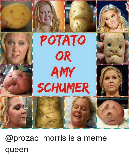 Amy Schumer, Memes, and Potato: POTATO  OR  AMY  SCHUMER @prozac_morris is a meme queen