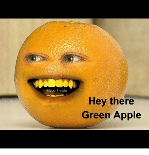 Pigly: @pourkie.pig  Hey there  Green Apple