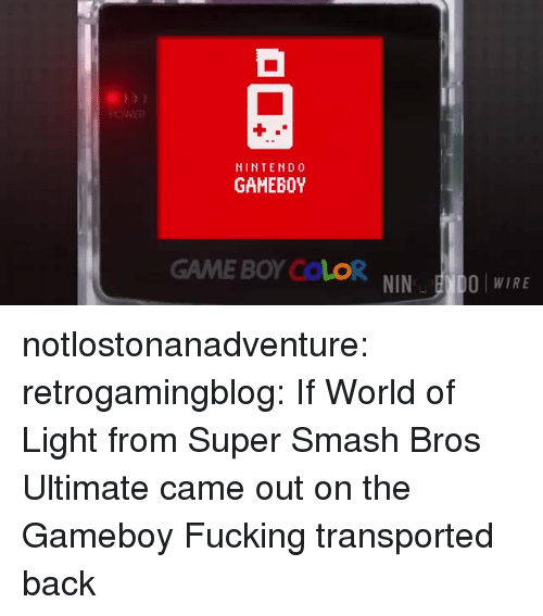 super smash: POWER  NINTENDO  GAMEBOY  GAME BOY COLORNINOWIRE notlostonanadventure: retrogamingblog: If World of Light from Super Smash Bros Ultimate came out on the Gameboy  Fucking transported back