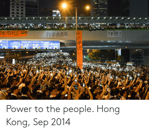 sep: Power to the people. Hong Kong, Sep 2014