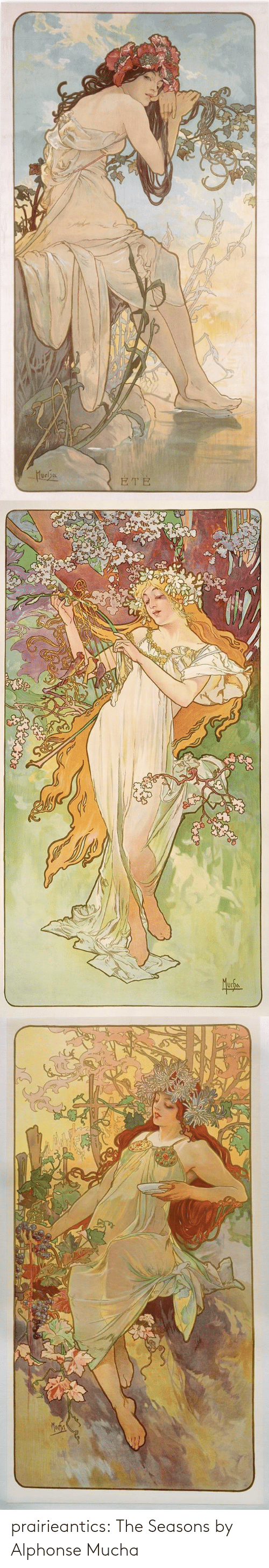 Seasons: prairieantics:  The Seasons by Alphonse Mucha