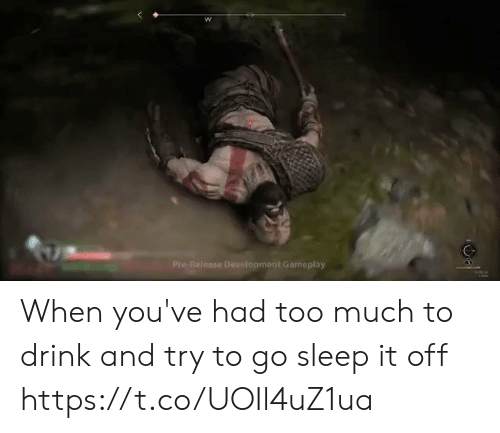 gameplay: Pre-Reloase Development Gameplay When you've had too much to drink and try to go sleep it off https://t.co/UOIl4uZ1ua