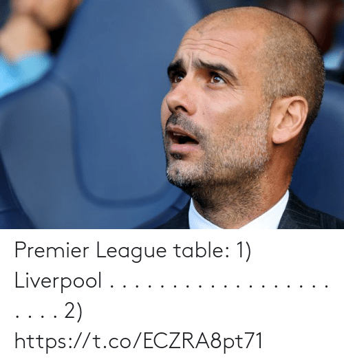 premier: Premier League table:  1) Liverpool . . . . . . . . . . . . . . . . . . . . . . 2) https://t.co/ECZRA8pt71