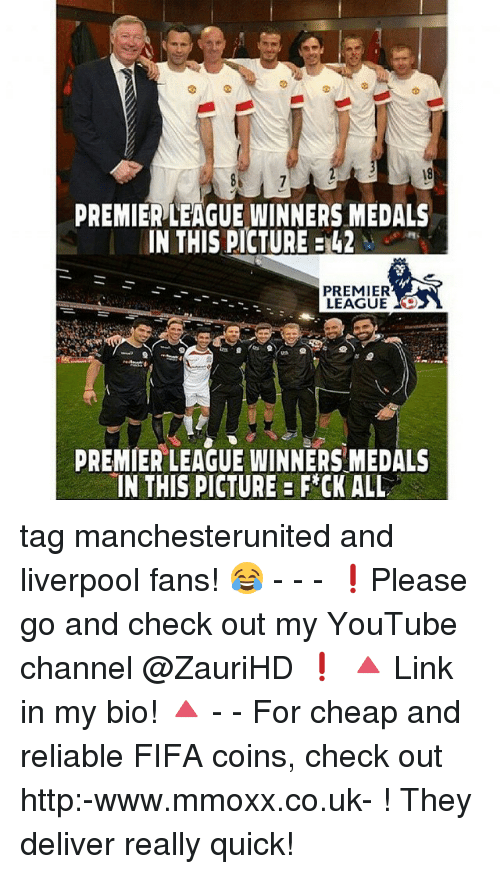 premier league winners: PREMIERLEAGUE WINNERS MEDALS  IN THIS PICTURE  PREMIER  LEAGUE  PREMIER LEAGUE WINNERS MEDALS  IN THIS PICTURE FCK ALL tag manchesterunited and liverpool fans! 😂 - - - ❗️Please go and check out my YouTube channel @ZauriHD ❗️ 🔺 Link in my bio! 🔺 - - For cheap and reliable FIFA coins, check out http:-www.mmoxx.co.uk- ! They deliver really quick!