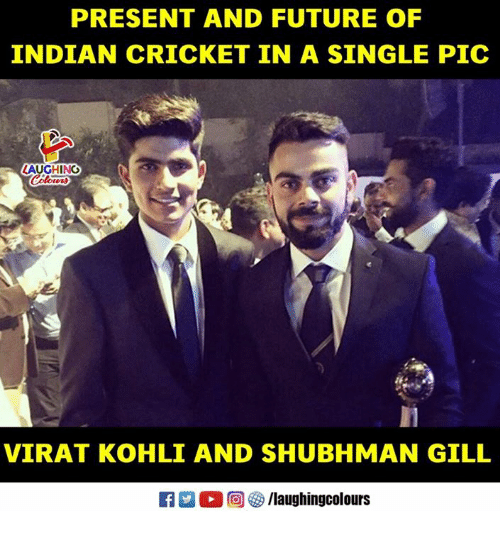Future, Cricket, and Indian: PRESENT AND FUTURE OF  INDIAN CRICKET IN A SINGLE PIC  LAUGHING  VIRAT KOHLI AND SHUBHMAN GILL