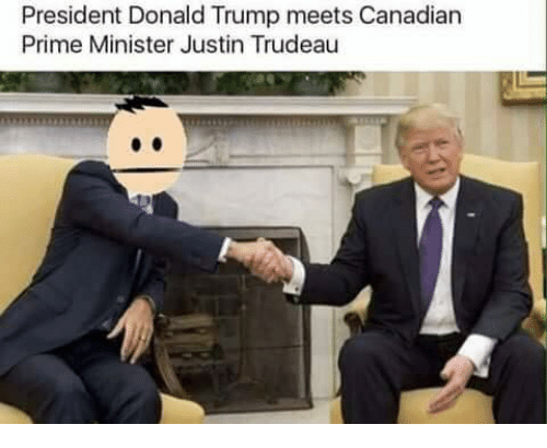 Memes, Justin Trudeau, and 🤖: President Donald Trump meets Canadian  Prime Minister Justin Trudeau