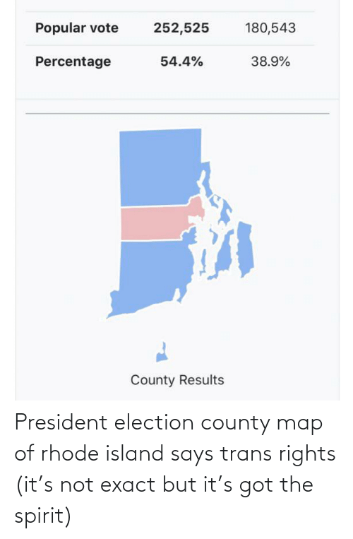 election: President election county map of rhode island says trans rights (it's not exact but it's got the spirit)