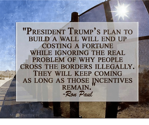 Ron Paul Building A Wall