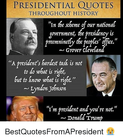 Grover Cleveland Quotes: PRESIDENTIAL QUOTES In The Scheme Of Our National