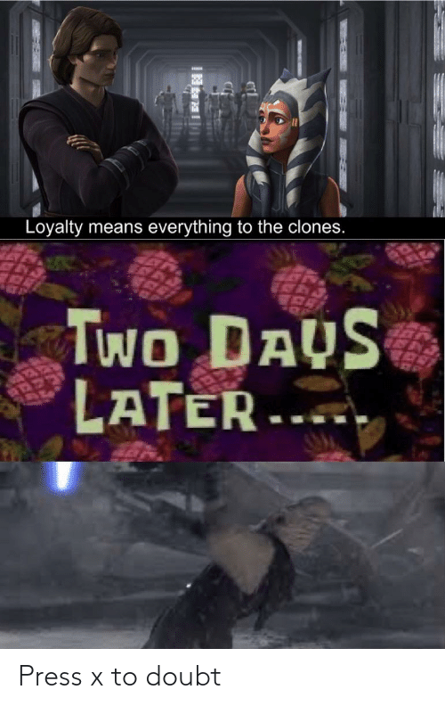 Doubt: Press x to doubt