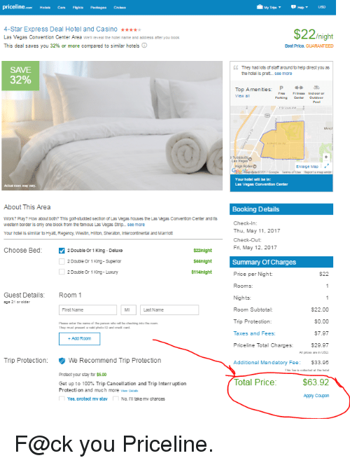 How To Name A Price On Priceline For Double Bed