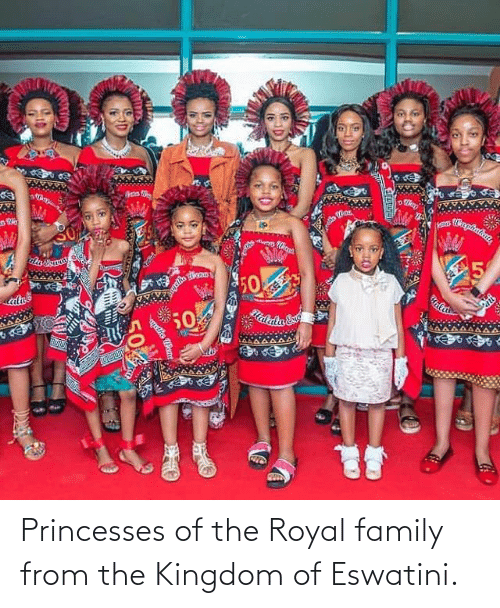 princesses: Princesses of the Royal family from the Kingdom of Eswatini.