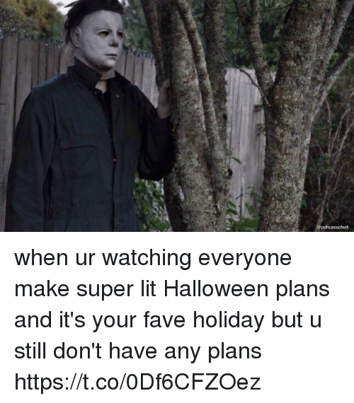 Halloween, Lit, and Fave: princessofwifi when ur watching everyone make super lit Halloween plans and it's your fave holiday but u still don't have any plans https://t.co/0Df6CFZOez