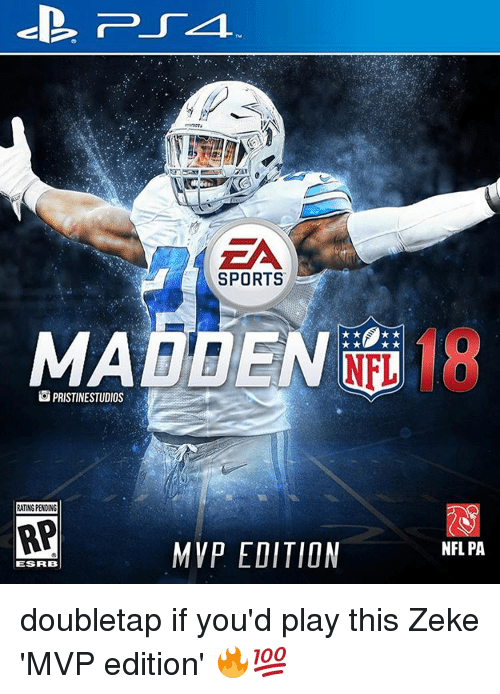 Memes, 🤖, and Mvp: PRISTINESTUDIOS  RATNGPENONG  RP  lESFRB  SPORTS  NHL  MVP EDITION  NFLPA doubletap if you'd play this Zeke 'MVP edition' 🔥💯