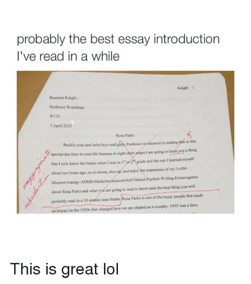 Best essays all time