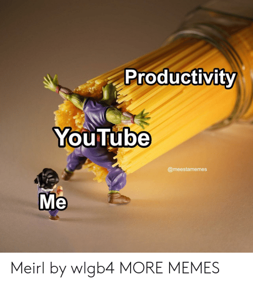 productivity: Productivity  YouTube  @meestamemes  Me Meirl by wlgb4 MORE MEMES