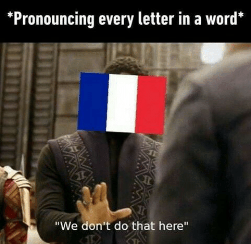 """dont do that: Pronouncing every letter in a word*  """"We don't do that here""""  IMWAY  M"""