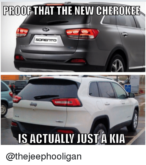 Jeep, Kia, and Proof: PROOF THAT THE NEW CHEROKEE  SOREITTO  IS ACTUALLY JUST A KIA @thejeephooligan