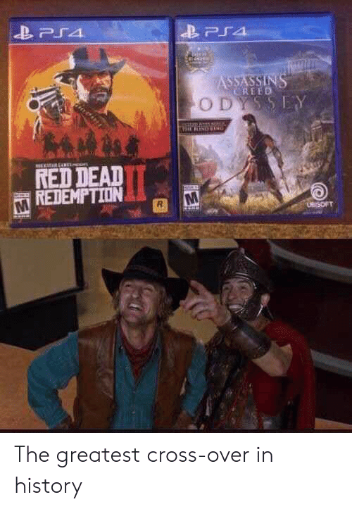 assassins: PS4  ASSASSINS  CREED  ODYSSEY  TARENE  RED DEAD  REDEMPTION  UBrSOFT The greatest cross-over in history