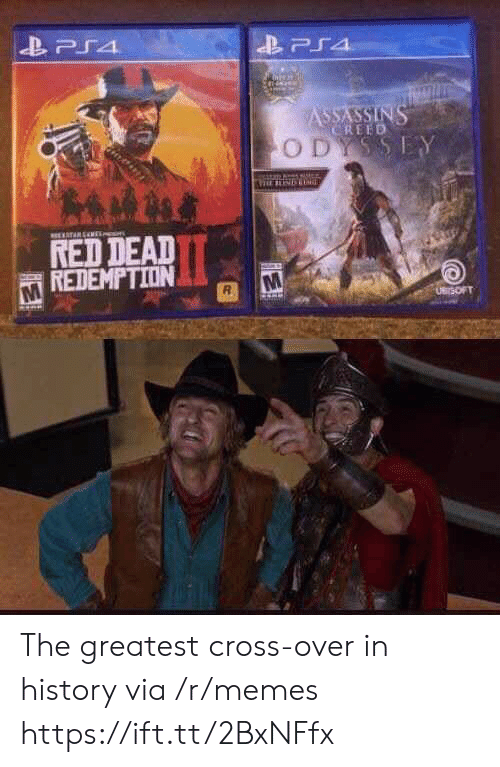 assassins: PS4  ASSASSINS  CREED  ODYSSEY  TARENE  RED DEAD  REDEMPTION  UBrSOFT The greatest cross-over in history via /r/memes https://ift.tt/2BxNFfx