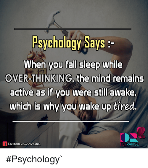 Psychology Says When You Fall Sleep While OVER-THINKING ...
